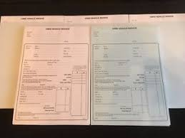 Invoice Selling Used Car Sales Invoice Pad Receipt Buying Selling Motor Vehicles