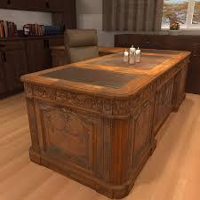 old office desks. carved wood antique office desk 3d model old desks