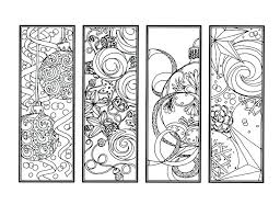 Bookmark Coloring Pages Christmas Bookmarks To Color Wamifu Co