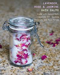 lavender rose jasmine homemade aromatherapy bath salts homemadeforelle com