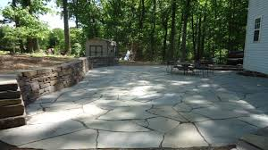 polymeric sand and flagstone
