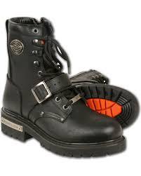 zoomed image milwaukee leather men s black buckled lace up boots round toe black hi