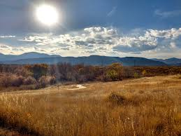 landscape free autumn sun over prairie and mountain landscape picture free