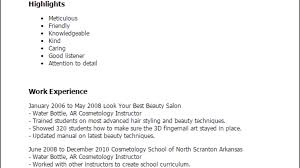 Professional Cosmetology Instructor Templates To Showcase