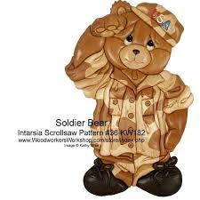 Intarsia Patterns Delectable Soldier Bear Intarsia Woodworking Pattern WoodworkersWorkshop