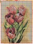 Вышивка крестом тюльпаны на