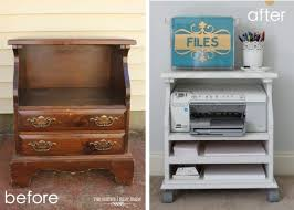 diy repurposed furniture. Fine Furniture Old Bedside Table To A Rolling Printer Cart  Clever DIY Repurposed  Furniture Ideas Try Inside Diy P