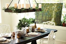 hang greenery from the chandelier