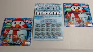 CASH BLIZZARD MERRY MONEY Illinois Lottery November 2017