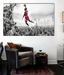 image is loading nba wall art michael jordan in flight canvas  on flight wall art with nba wall art michael jordan in flight canvas print 36 x 24 ebay