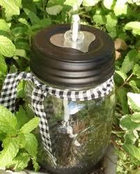 mason jar oil lamp heart