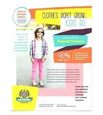 Kindergarten Flyer Template Play School Brochure Templates