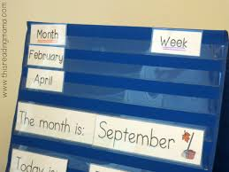 Calendar Vocabulary Cards In Pocket Chart This Reading Mama