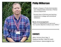 Advisor Philip Wilkerson