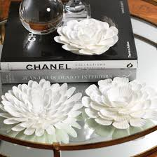Ceramic wall art and wall sculptures bring vivid beauty to your walls in three dimensions. Porcelain Flower Table And Wall Decor Set Of 3
