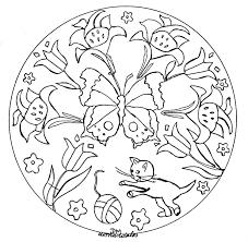 Mandala Facile Papillons Et Fleurs Coloriage Mandalas Coloriages