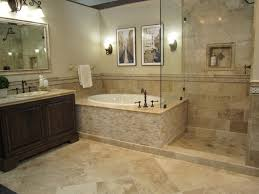 Bathroom Floor:Gorgeous Bathroom With Travertine Tile Gorgeous Bathroom  with Travertine