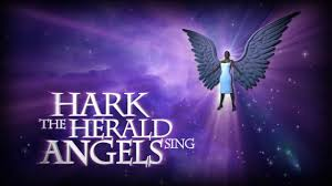 hark the herald angels sing background. PCM Black Christmas Angel Hark The Herald Angels Sing Inside Background