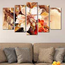 0131 wall art decoration set of 5 pieces art flower