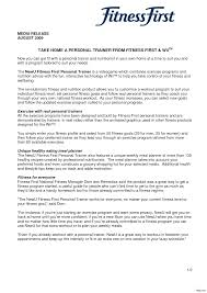 Resume For Fitness Trainer Personal Trainer Resumes Best Fitness And Personal Trainer Resume 8