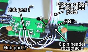 how to make an xbox 360 laptop part 3 attach an 8 pin female header receptacle directly to one of the usb hub ports on the circuit board this locks it down and keeps it in place