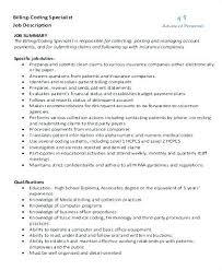 Medical Billing And Coding Resume Sample Medical Billing And Coding