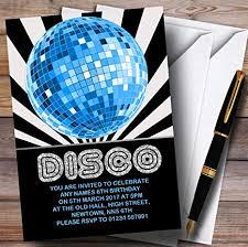 Childrens Disco Invitations Amazon Com Disco Ball Blue Childrens Birthday Party