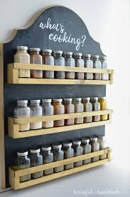 I love this hanging spice rack! It is the perfect way to organize your  spices