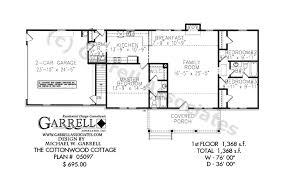 cottonwood cottage house plan 05097 1st floor plan