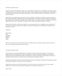 Student Character Reference Letter Example Of Personal Reference Letter What Is A For Student