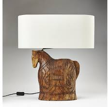 ... Carved Wooden Horse Lamp-OTHENTIQUE-OTHENTIQUE ...