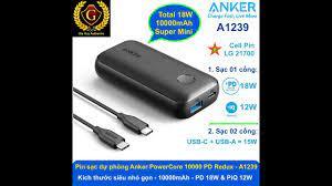 Pin sạc dự phòng siêu nhỏ gọn ANKER PowerCore 10000 PD Redux, 10000mAh PD  18W & PiQ 12W - A1239 - YouTube