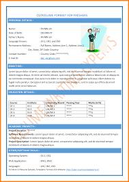 5 Common Resume Format For Freshers Farmer Resume
