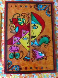 Diwali Glass Painting Designs Very Interesting Glass Painting Madhubani Art Saree