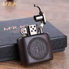 personalized custom old nine doors ebony kerosene lighter whole emptied embossed creative wind gift clic