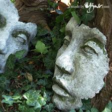 yes moss but this post already long enough so it will be posted soon separately go make your own diy concrete face garden sculpture