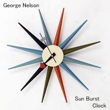 george nelson sunburst k rock wall clock multi coloured