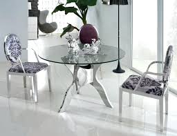 glass dining room sets fantastic design of the glass dining room tables with silver legs