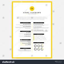 Yellow Black Cv Resume Template Vector Curriculum Vitae Sample Cv