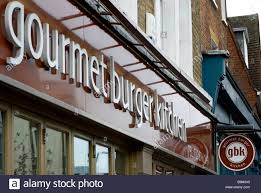 Kitchen Westbourne Grove Gourmet Burger Kitchen Restaurant Exterior With Name Logo And