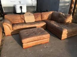 free brown leather corner l shaped couch linda vista