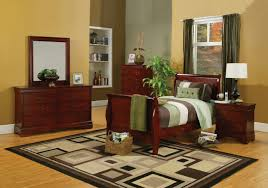 Louis Philippe Furniture Bedroom Louis Philippe Full Cherry Sleigh Bed