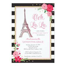 Birthday Invitation Pictures Beauteous Paris Birthday Invitation Paris Birthday Invite Zazzle
