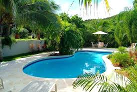 tropical landscaping ideas around pool trees surround the villa and create an banana tree next to best palm