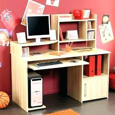 Kids Computer Desk With Hutch White Childrens Simple Table