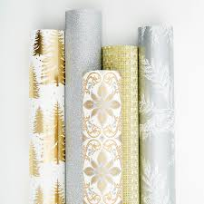 Vivid Wrap Glitter Gold & Silver Scroll Wrapping Paper Sheets Pkg/2