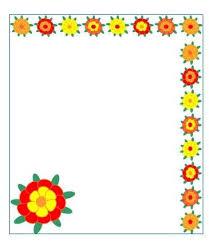 Flower Border Designs For Paper Simple Flower Border Designs For Projects Flowers Healthy