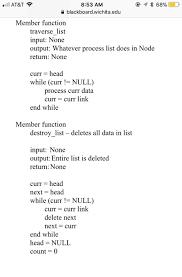 turn this pseudo code algorithm of theses member com  11 at t令 8 53 am blackboard wichita edu member function traverse