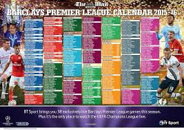 Football League Table Wall Chart Premier League Fixtures 2015 16 Heres Your Ultimate Guide