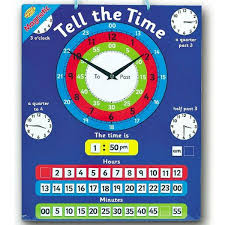 Details About New Dimension Magnetic Tell The Time Chart Kids Childrens 24 Hour Clock Learn